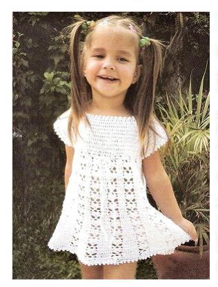 Описание работы: Вязаное платье для девочки.  Набрать на круговые спицы...