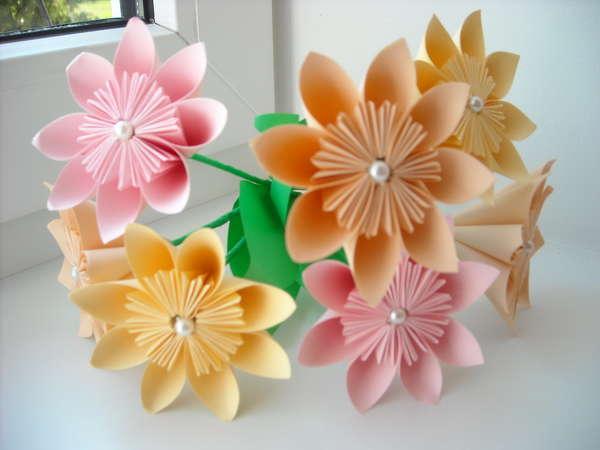 Поделка цветок своими руками схема