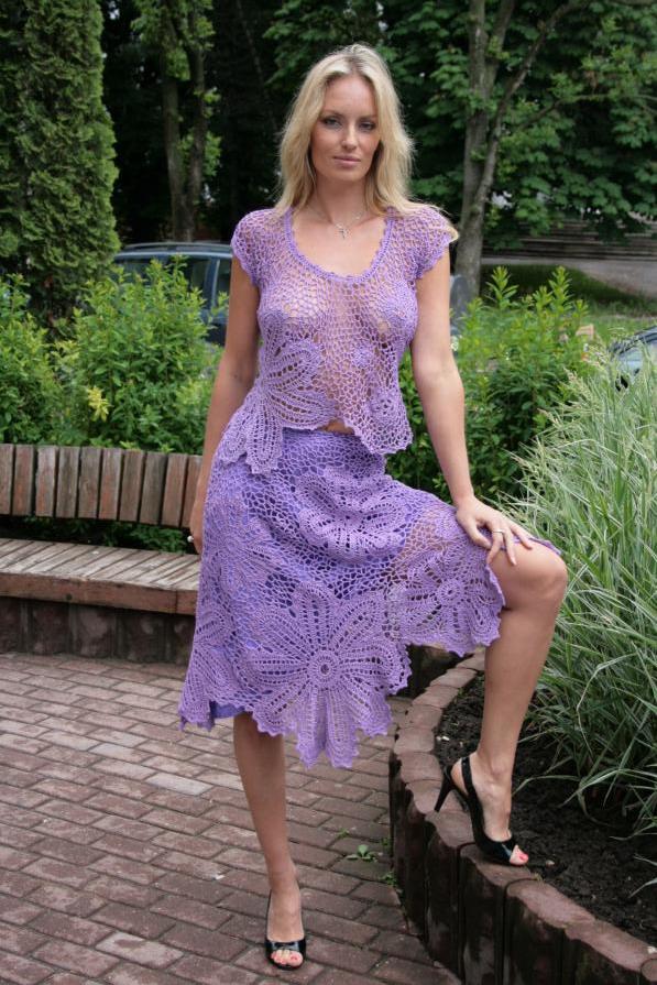 Клуб осинка вязание платья