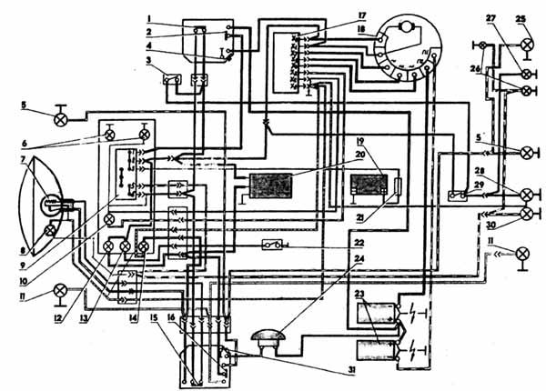 Вывод - Схема проводки иж